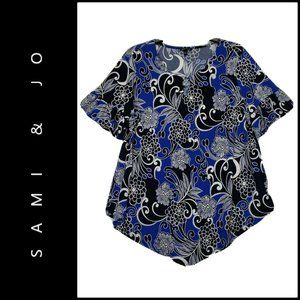 Sami And Jo Women Texture Blouse Top Size Large